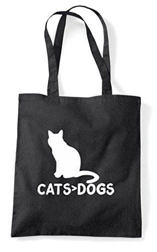 Cats Are Greater Than Dogs Cute Funny Animal Themed Tote Bag Shopper