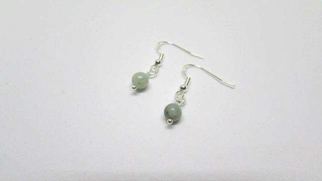 Jade Earrings Drop Earrings Gemstone Earrings Green Earrings Sterling Silver Earrings Green Jade