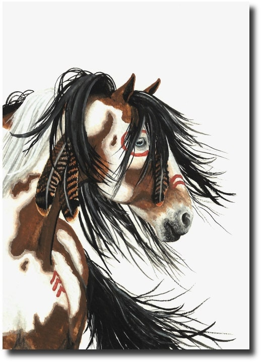Native American Painted Horse Native American Indian Horse