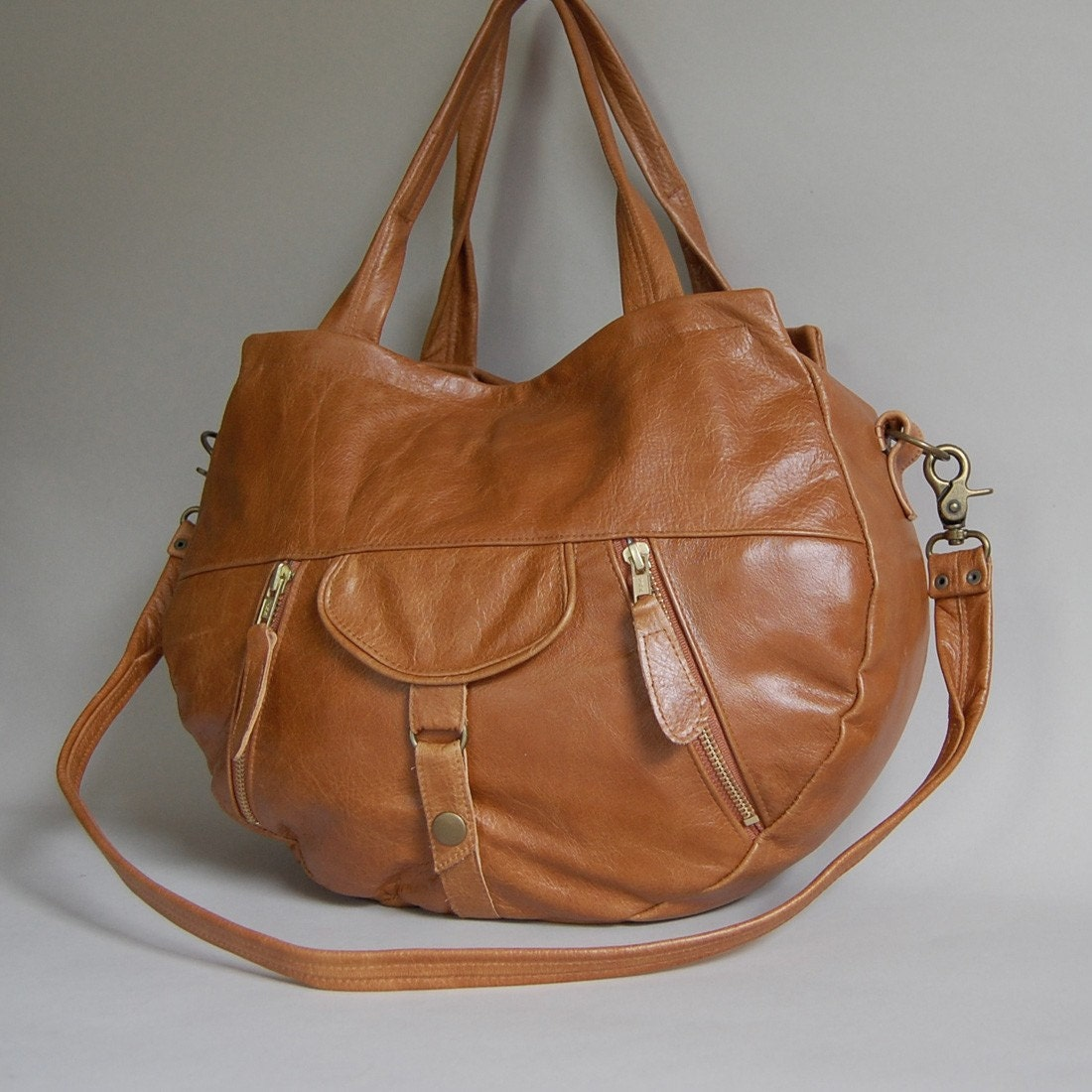 Lynx bag in golden honey - clip on cross body strap
