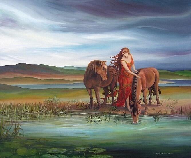 Epona - Celtic Horse Goddess Print
