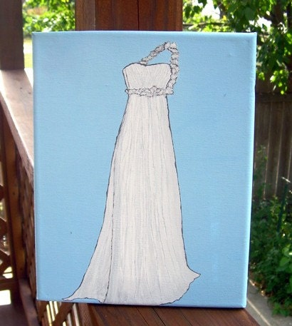 Wedding Dress on Baby Blue Posted by IntrovertedWife on Monday August 17