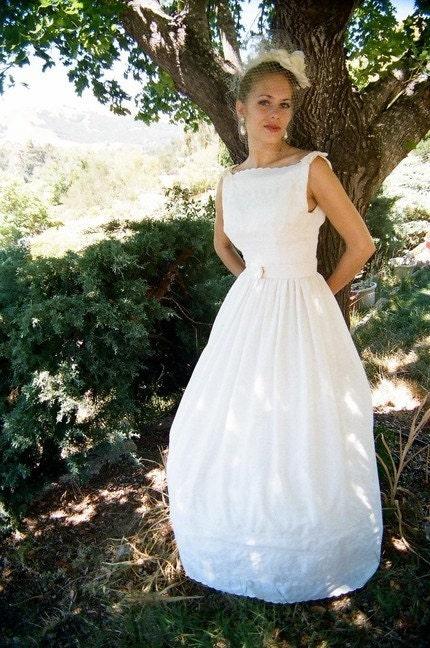 Satin Eyelet Wedding Dress