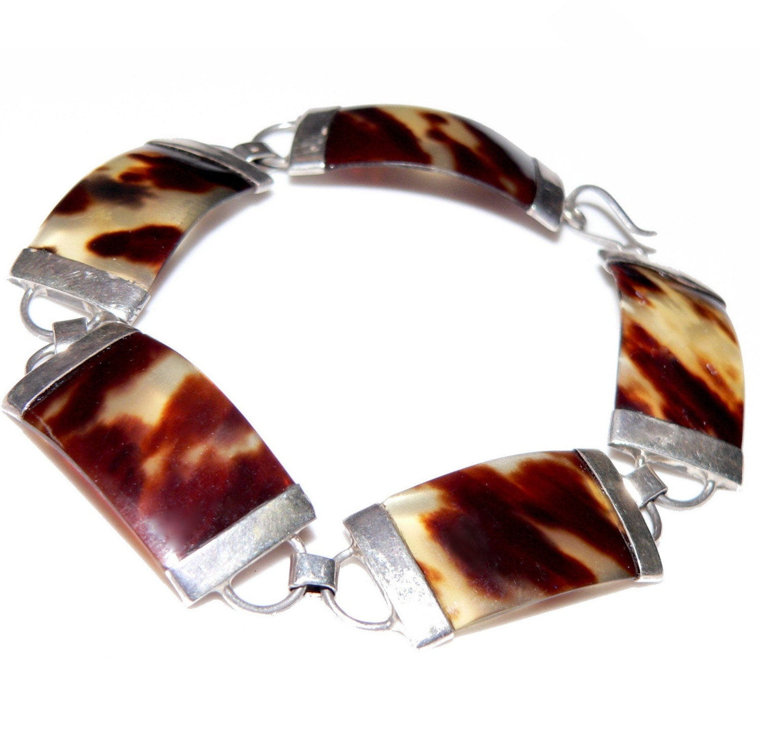 60s pre ban real tortoise shell and sterling silver by for Real tortoise shell jewelry