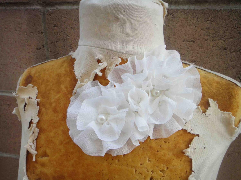 Симпатичные бисером шифона цветок аппликация 1 шт листинга