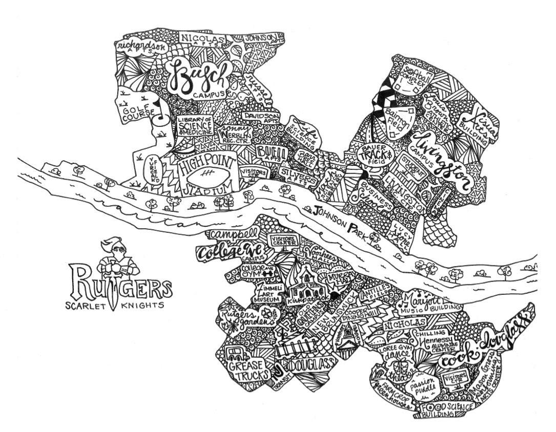 Rutgers University Campus Map