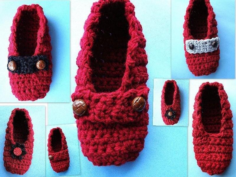 Beginner Crochet Patterns Slippers : CROCHET PATTERN NUMBER 24 BEGINNER ADULT SLIP-ON by Carlitto