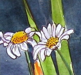 ACEO - Daisy Daisy - Original watercolour and collage ACEO