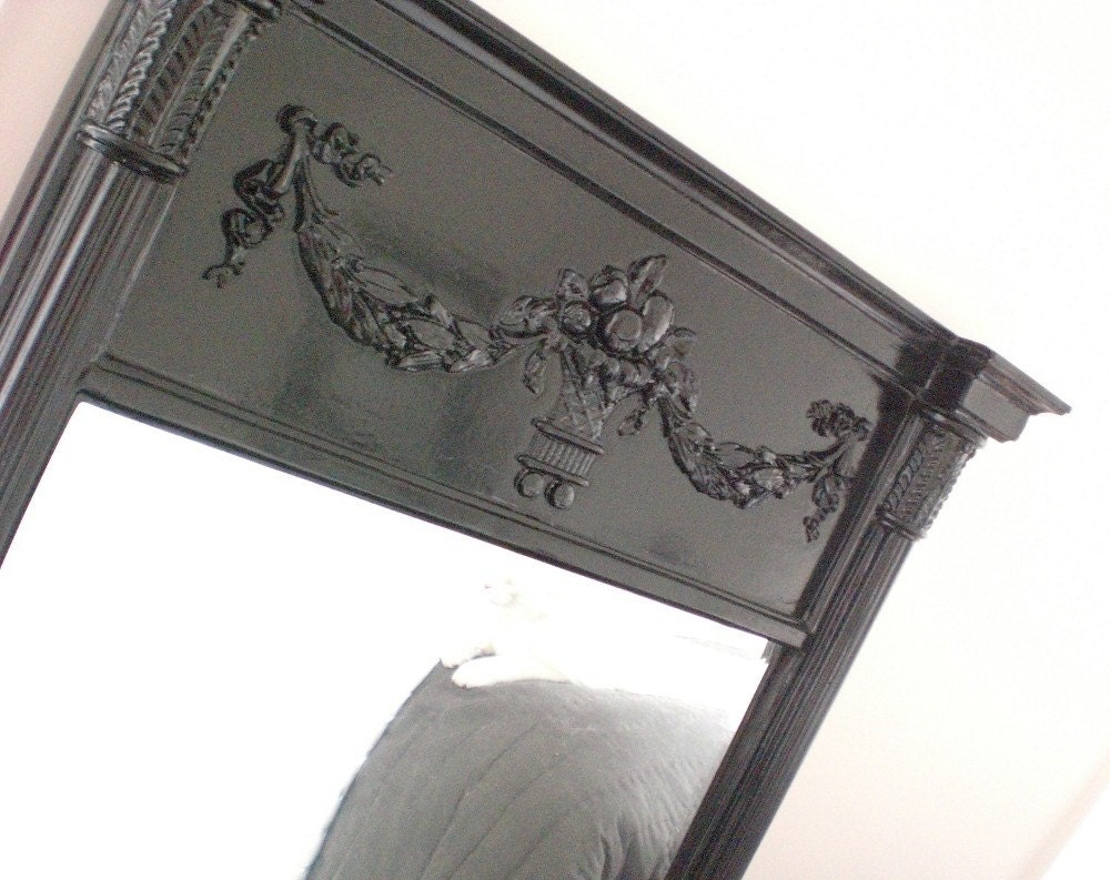 Fabulous Black Ornate Mirror