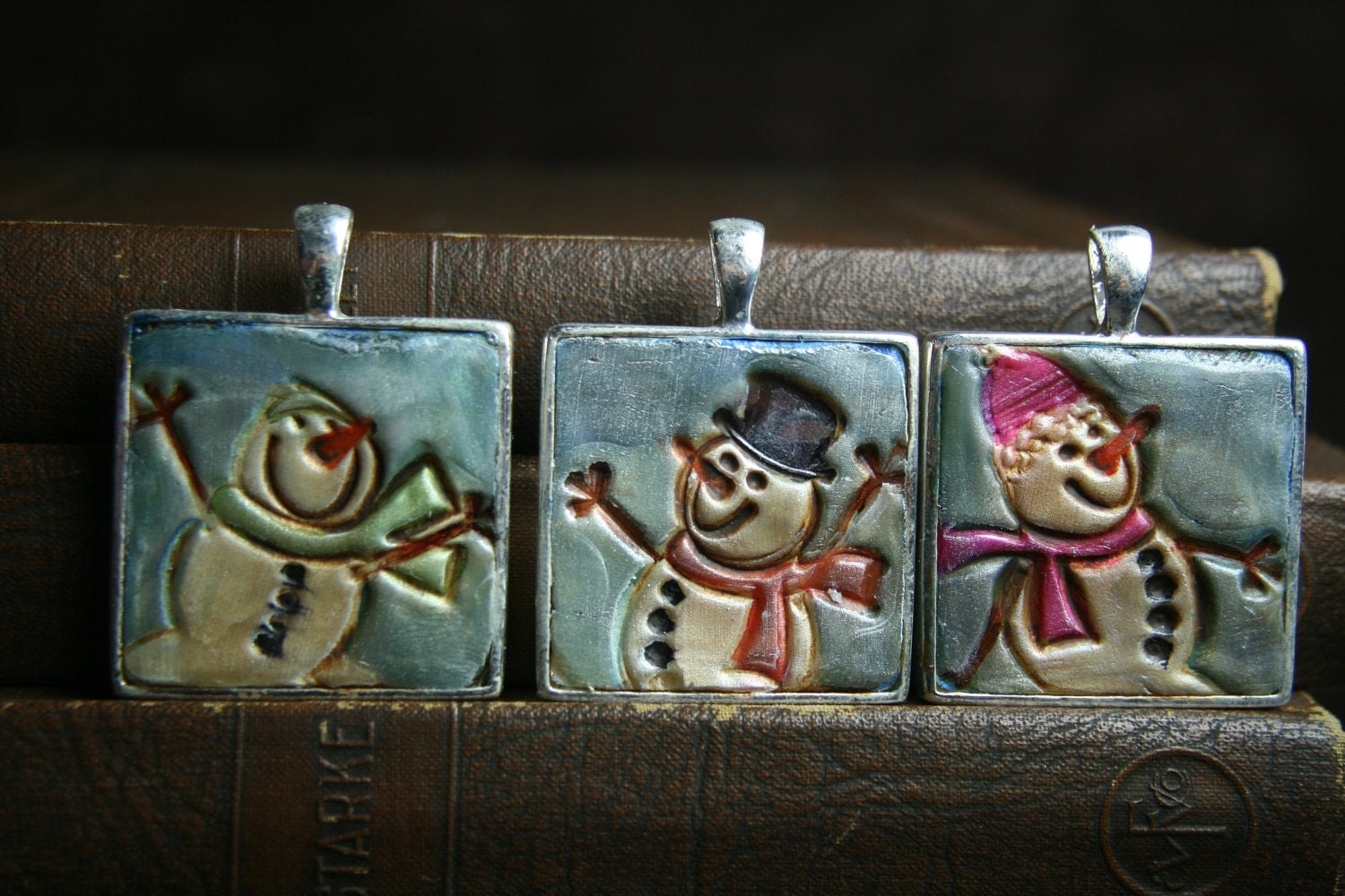 snowfolk - hooray for snow - simple truths ornament or pendant - MADE TO ORDER - awholiday