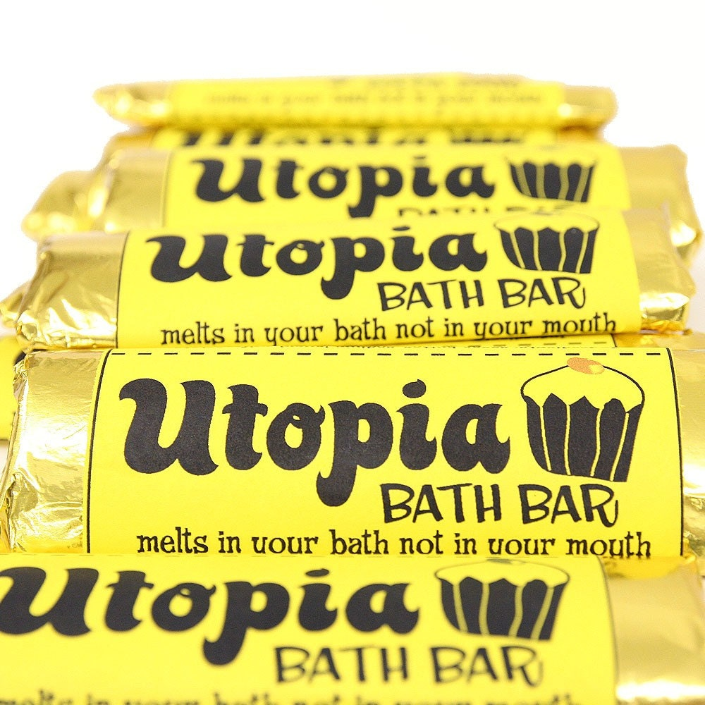 Utopia Bath Bar with tropical fruit scent