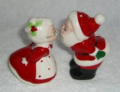 vintage christmas salt and pepper shakers - Christmas Salt And Pepper Shakers