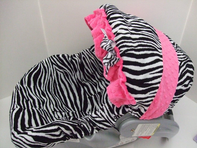 Zebra Print Car Seat Canopy