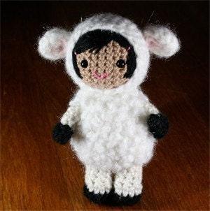 Crochet Pattern- Lana the lamb amigurumi doll