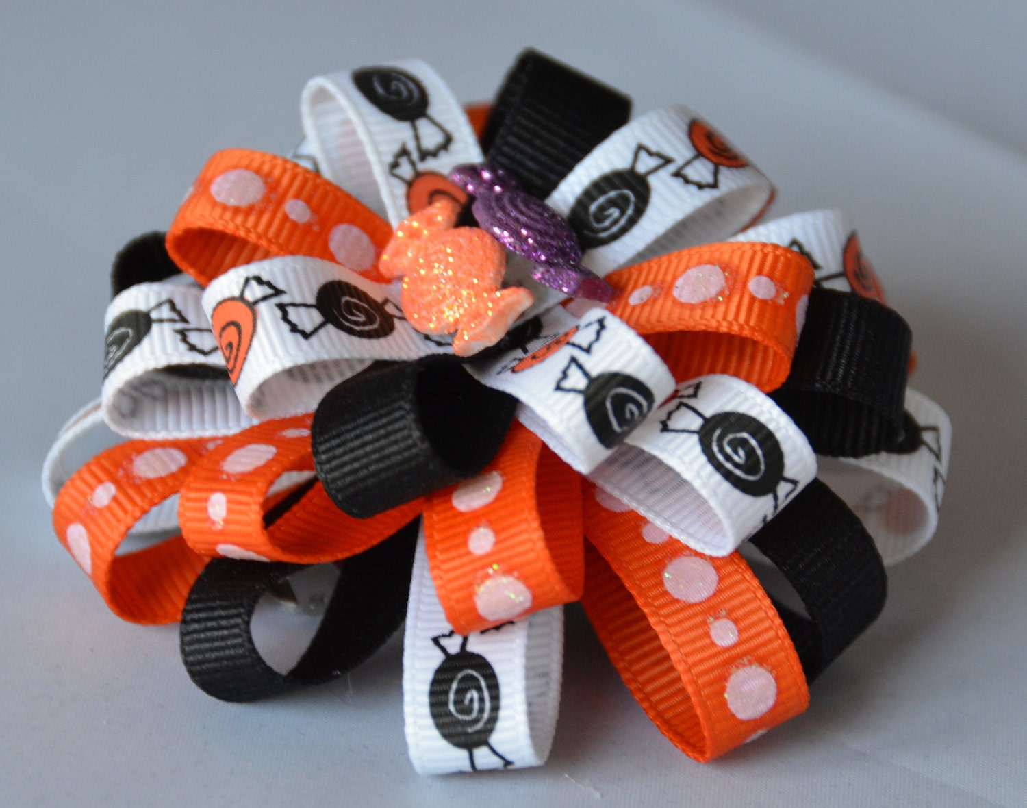 Flower Loop Bow Halloween Candy