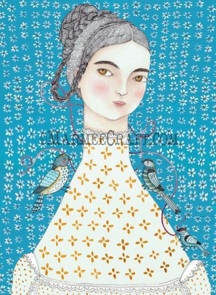 Mathilde in Blue, Print