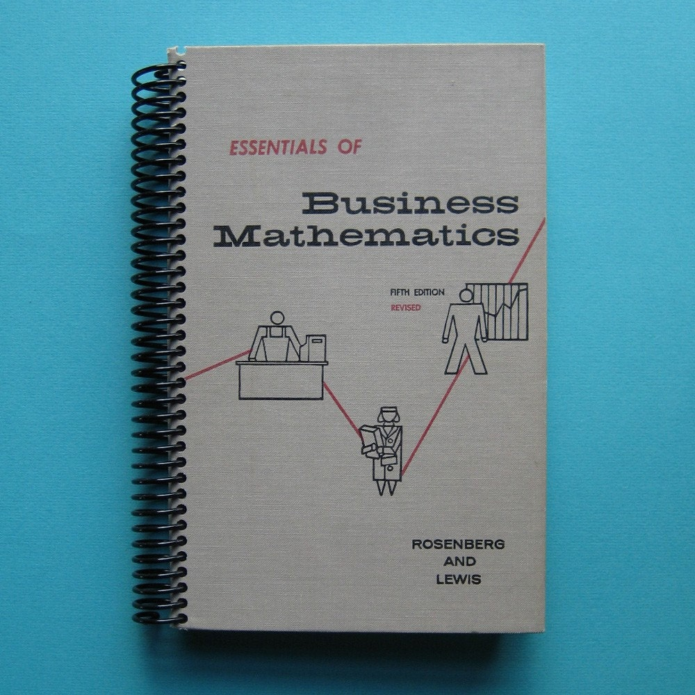 Business Mathematics recycled book blank journal
