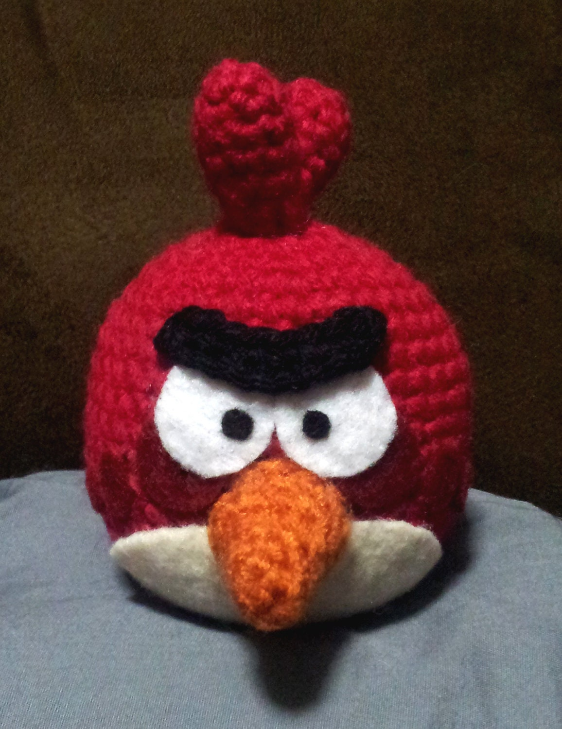 Black Angry Bird Amigurumi Pattern : ANGRY BIRDS Crochet Amigurumi Red Bird by JNArts on Etsy