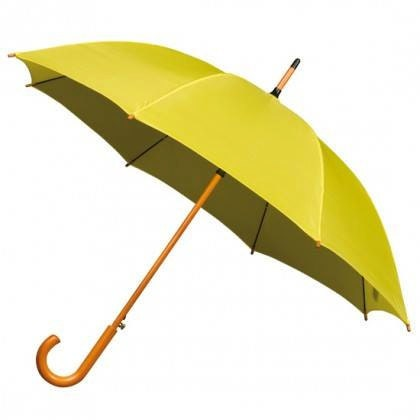 Yellow Wooden Handle Umbrella yellow umbrella How I Met Your Mother umbrella bright yellow rainy day umbrella bright umbrella parasol