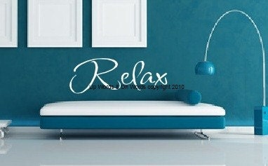 Decorative Vinyl Lettering-Relax