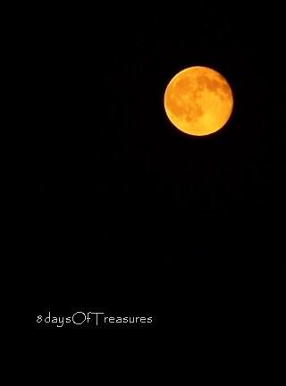 Halloween Photography, Full Moon, Orange, Yellow, Black, Fall, Autumn, Spooky Nature Photography - 8x10 Print - 8daysOfTreasures