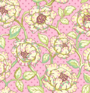 Freshcut by Heather Bailey for Free Spirit Fabrics - Cabbage Roses in Pinky Purple - 1/2 Yard