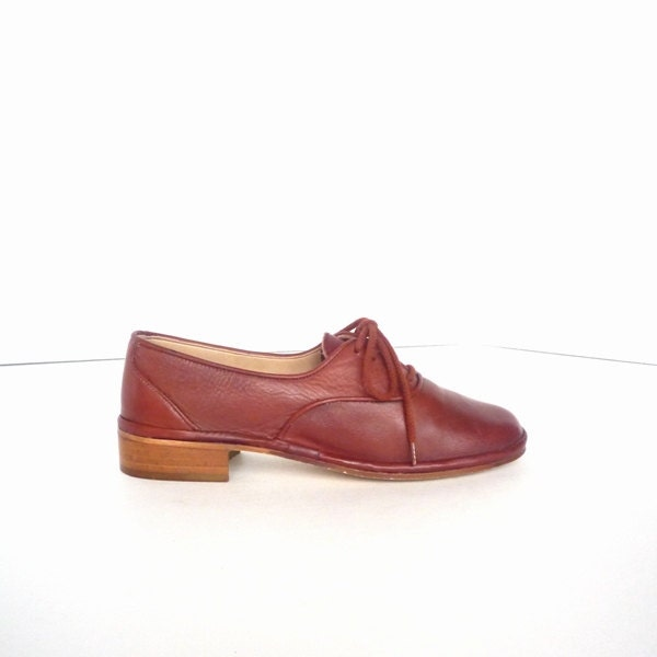 80's Oxfords in Terracotta Leather - 7 - calliopevintage