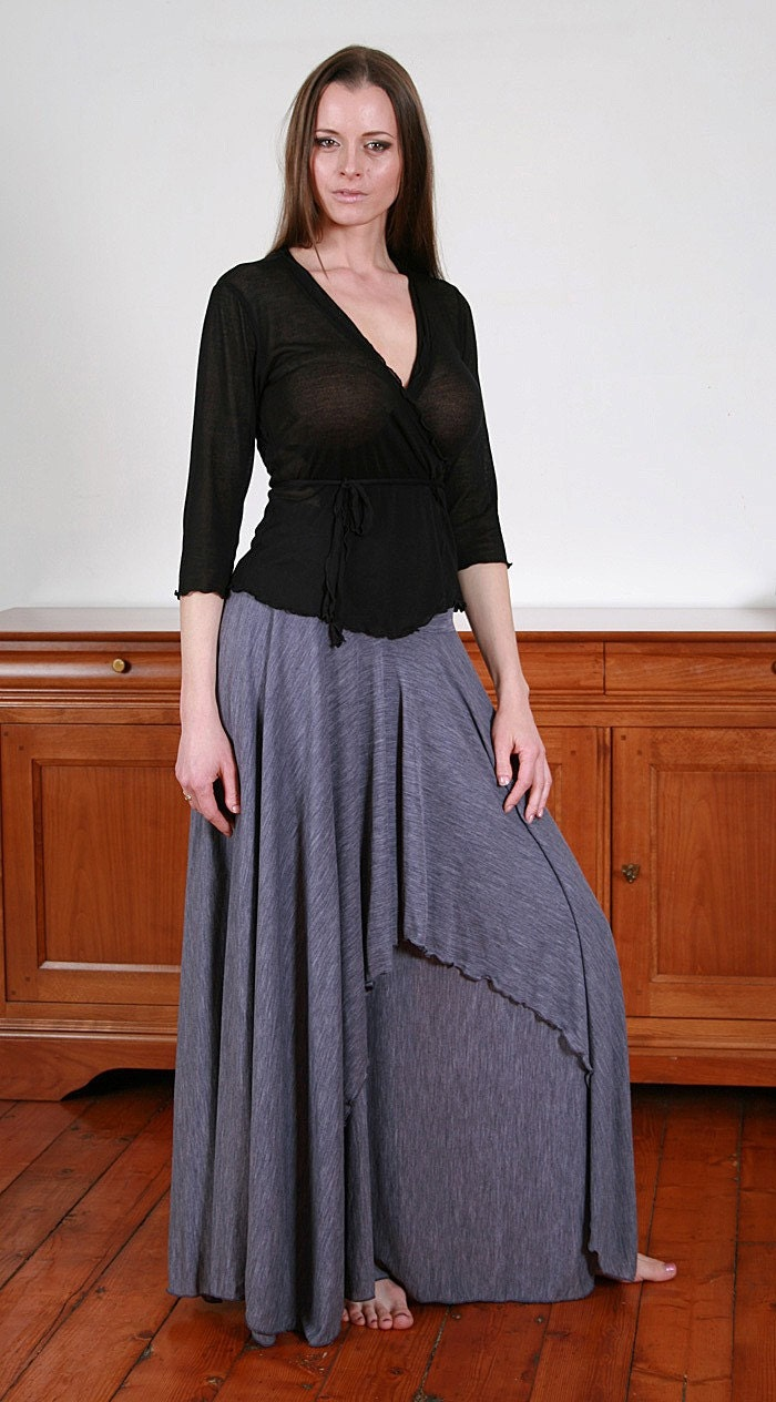 POLA Romantic pale violet long skirt with two layers