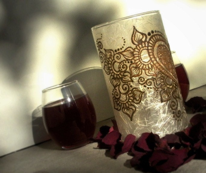 Mehndi Henna Candles : Table accessories mehndi henna candles the big fat