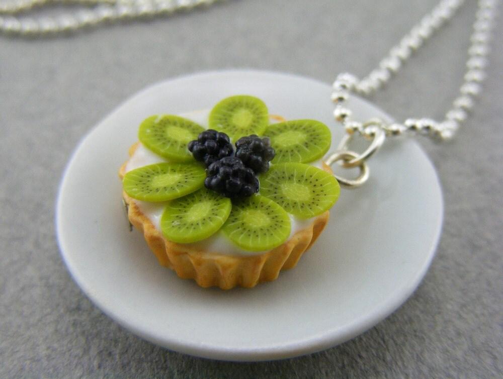 Киви и Blackberry Пирог Ожерелье