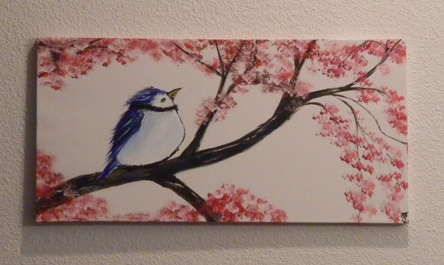Blue Bird Painting, Acrylic Painting, Canvas Painting, Nature Painting - Codysquilts