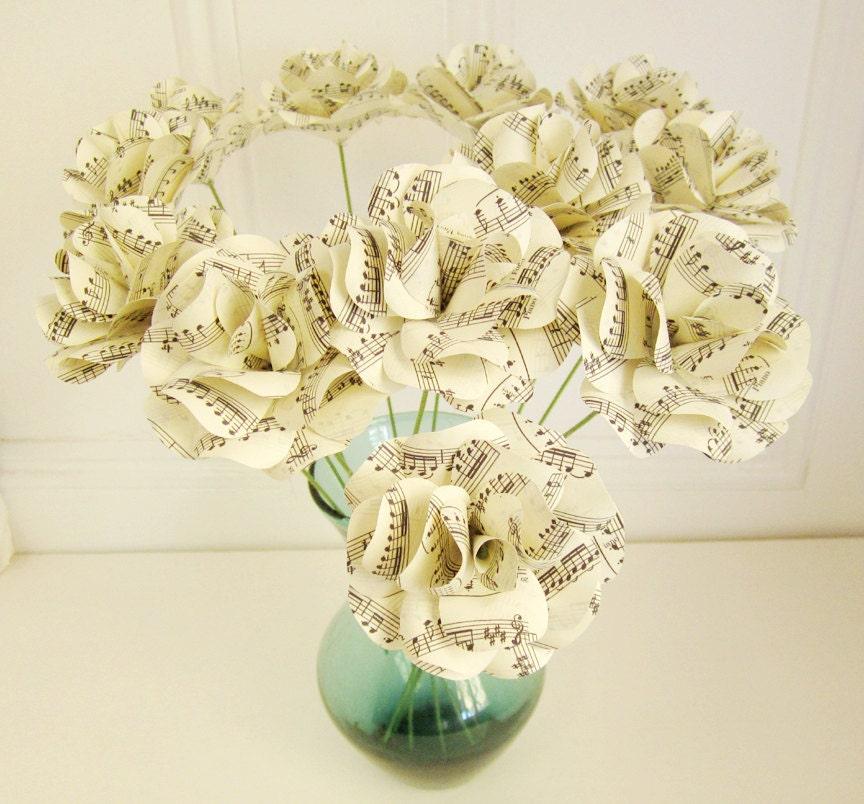 Wedding sheet music paper roses vivaldi 39 s spring by for Paper roses sheet music free