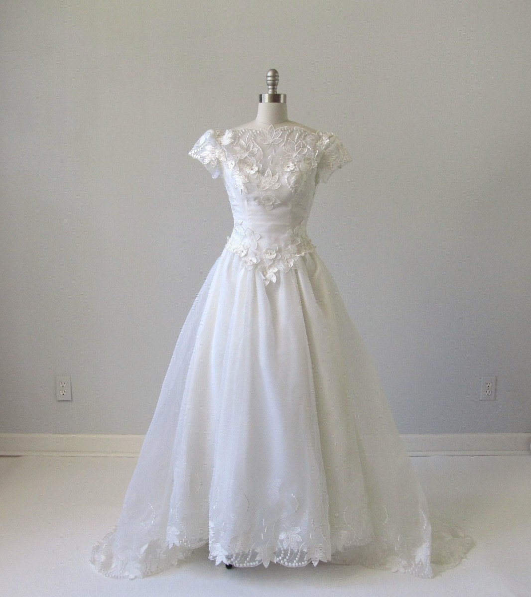 Wedding dress vintage bianchi chiffon by thevintagemistress for Wedding dress stores boston