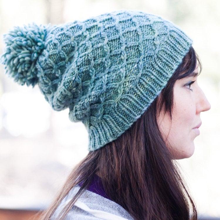 Knitting Pattern Reversible Hat : KNITTING PATTERN Reversible Smocked Hat PDF by mclaughlindesigns