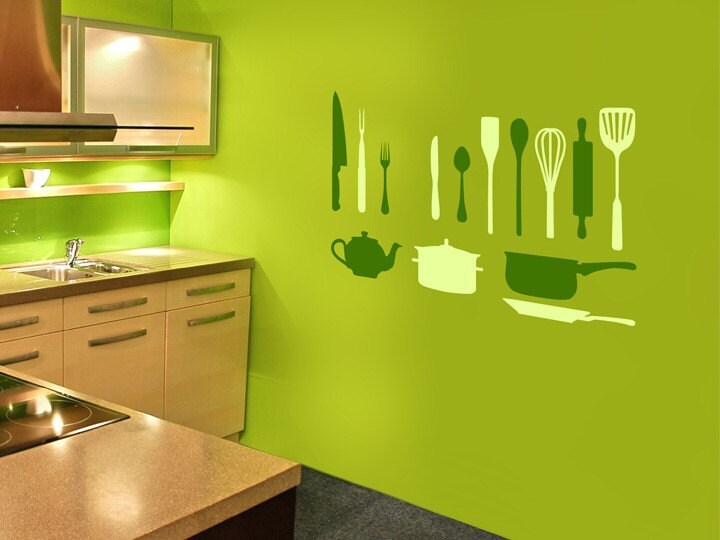 Kitchen Utensils Wall Stickers