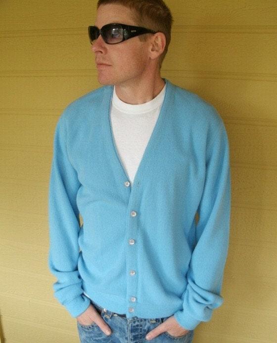 Vintage Mens Cardigan Sweater by Jockey M