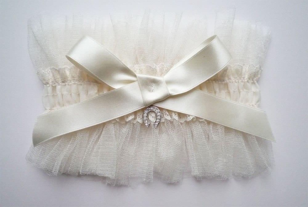 ethereal silk tulle garter