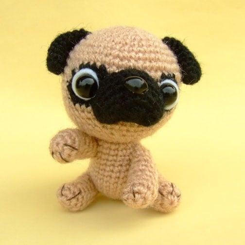 RESERVED for mosmamamia Pug Amigurumi by jaravee on Etsy