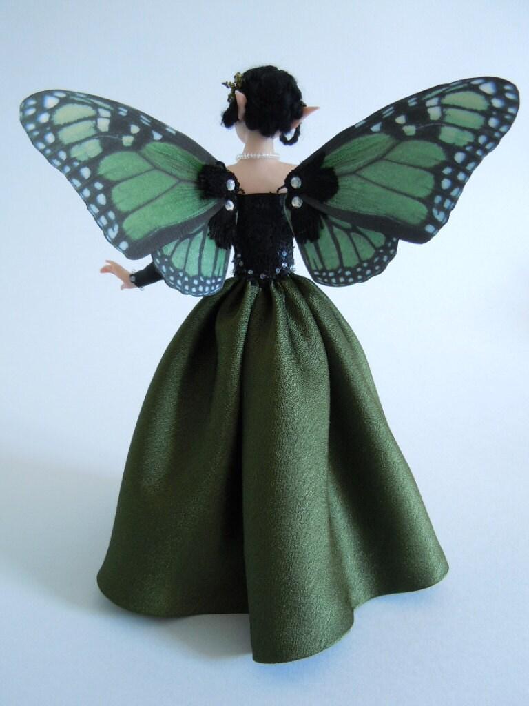 "OOAK ""Leila"" sculpture art doll fantasy in polymer clay"