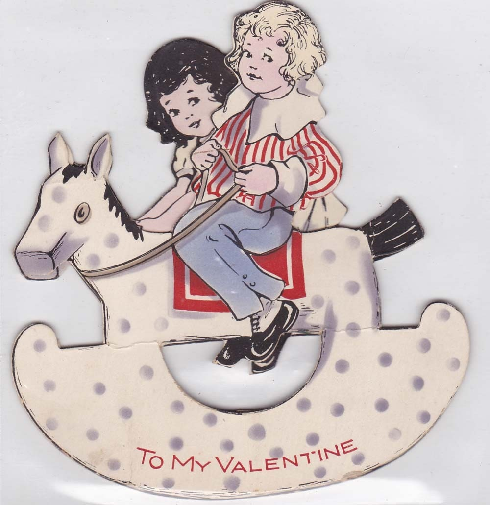 Unused Vintage  Stand Up Valentine Card vvc009 FREE SHIPPING
