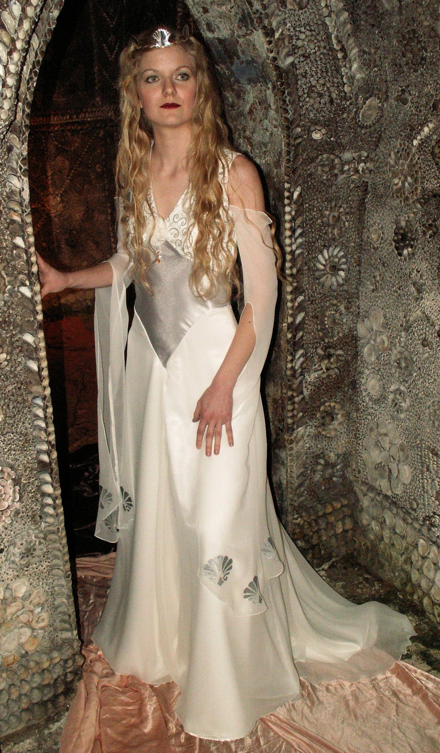 items similar to medieval fantasy wedding gown white silk