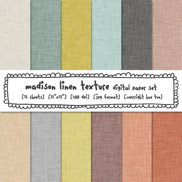 Linen texture digital paper soft neutral colors by huetoo for Soft neutral paint colors