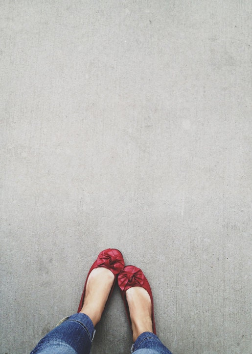 The Red Shoes, 5x7 Print, Portrait Photography, Abstract Art, Minimalist Art, Red Decor, Dreamy Photography, Shoes, Home Decor, Urban Art - riotjane