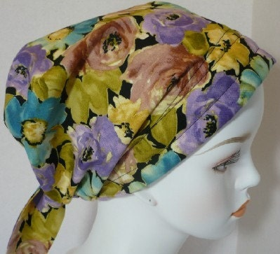 Scarves Hair Loss on Scarf Fitted Hair Loss Turbans Hats Pretty Floral Bad Hair Day