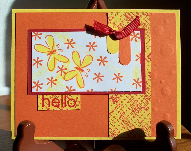 Handmade Note Card Stampin Up Sweet Shapes