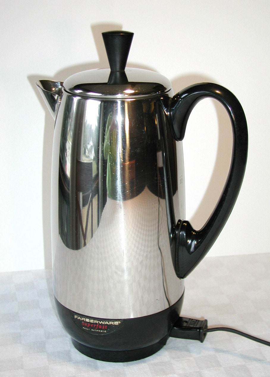 Farberware Automatic Coffee Maker Instructions : Farberware Superfast 12 Cup Percolator by SunsetSideVintage