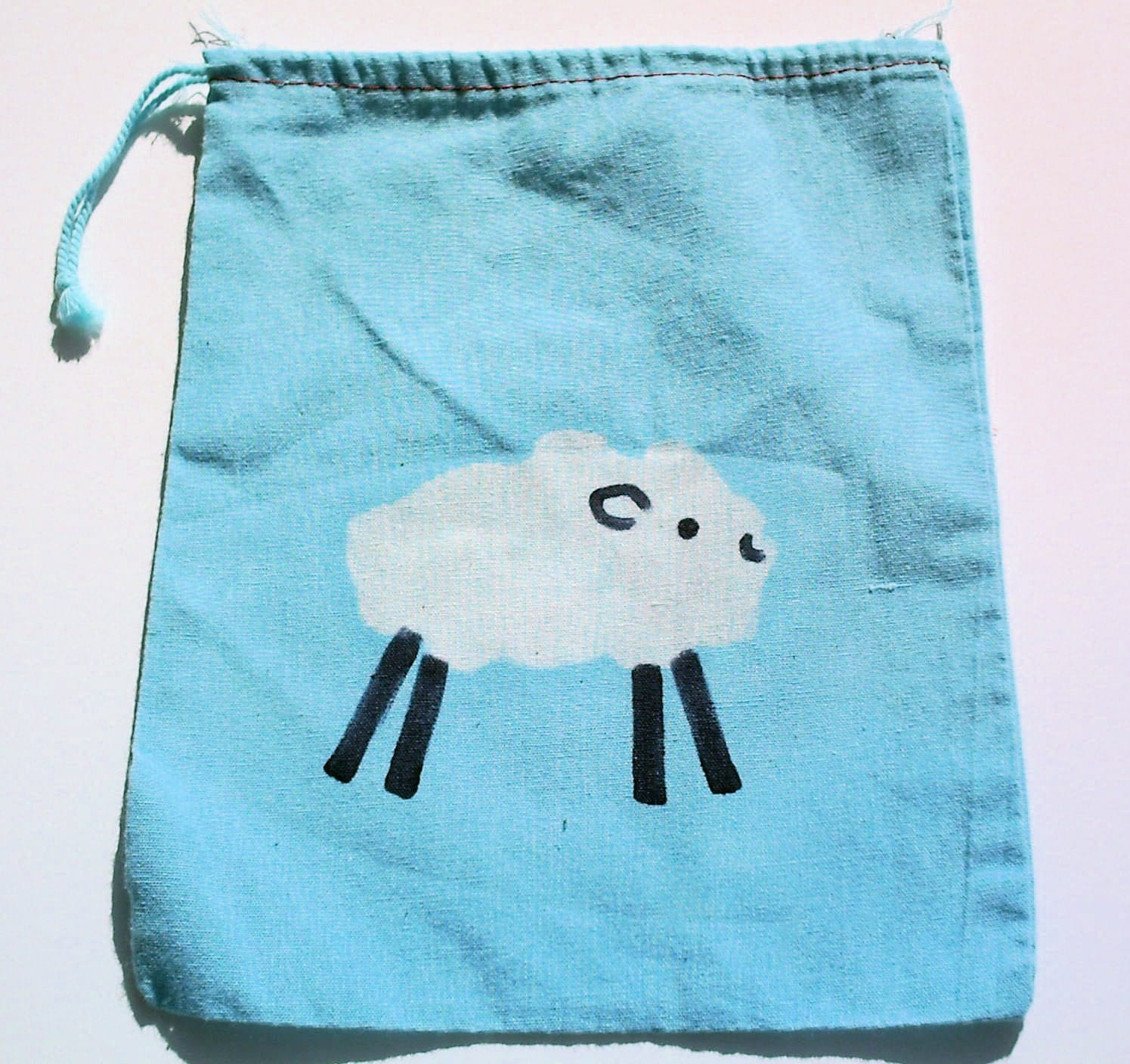 batik SHEEP mini project or notion drawstring bag NO TEXT