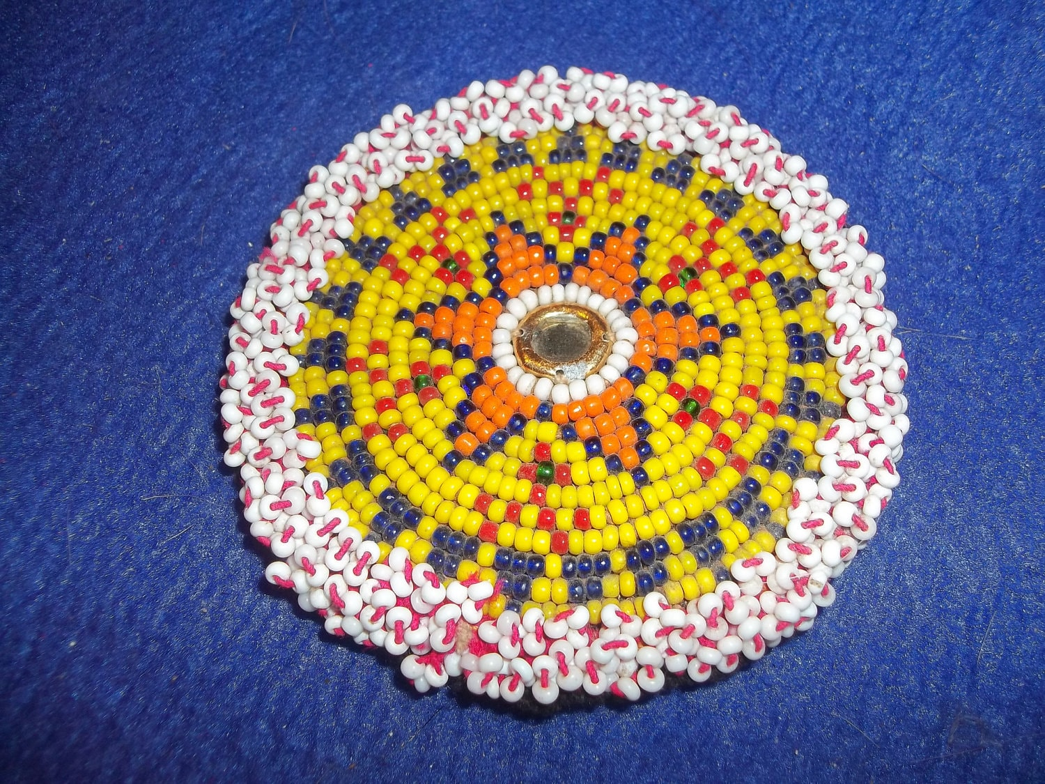 made beaded rosette american indian by boomer2563
