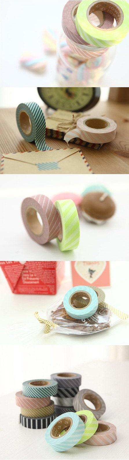 A set of 2 Japanese Washi Masking Tapes