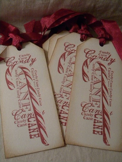 Handmade Gift Tags-Candy Canes